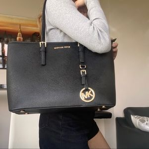 Authentic Michael Kors Black Tote Bag